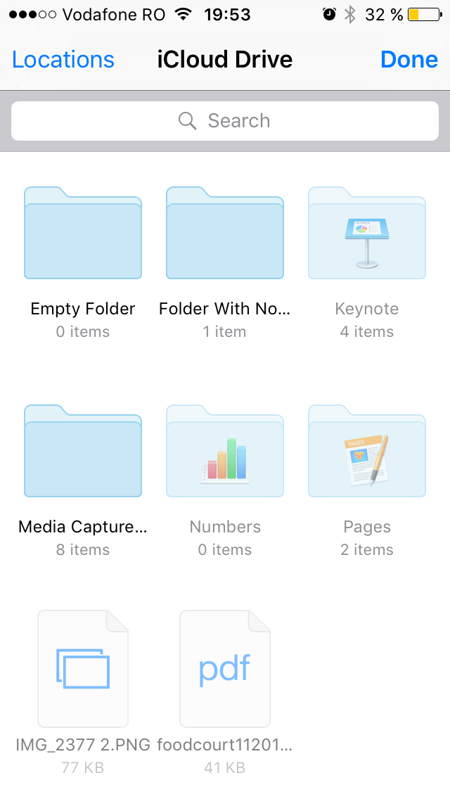 iOS 9 iCloud Drive and Media Capture