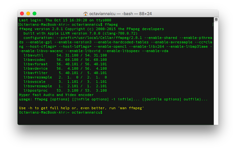 FFmpeg installed and configured