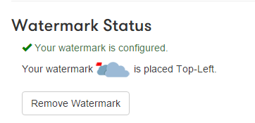 Watermark status is now shown in the Pipe account area