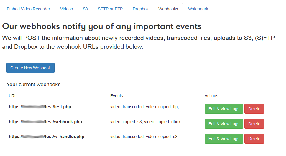 Multiple webhooks can now be set up in the Pipe account area