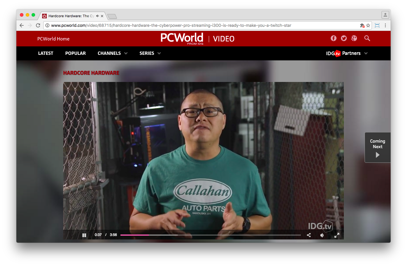 PCWorld's individual videos work without Flash Player