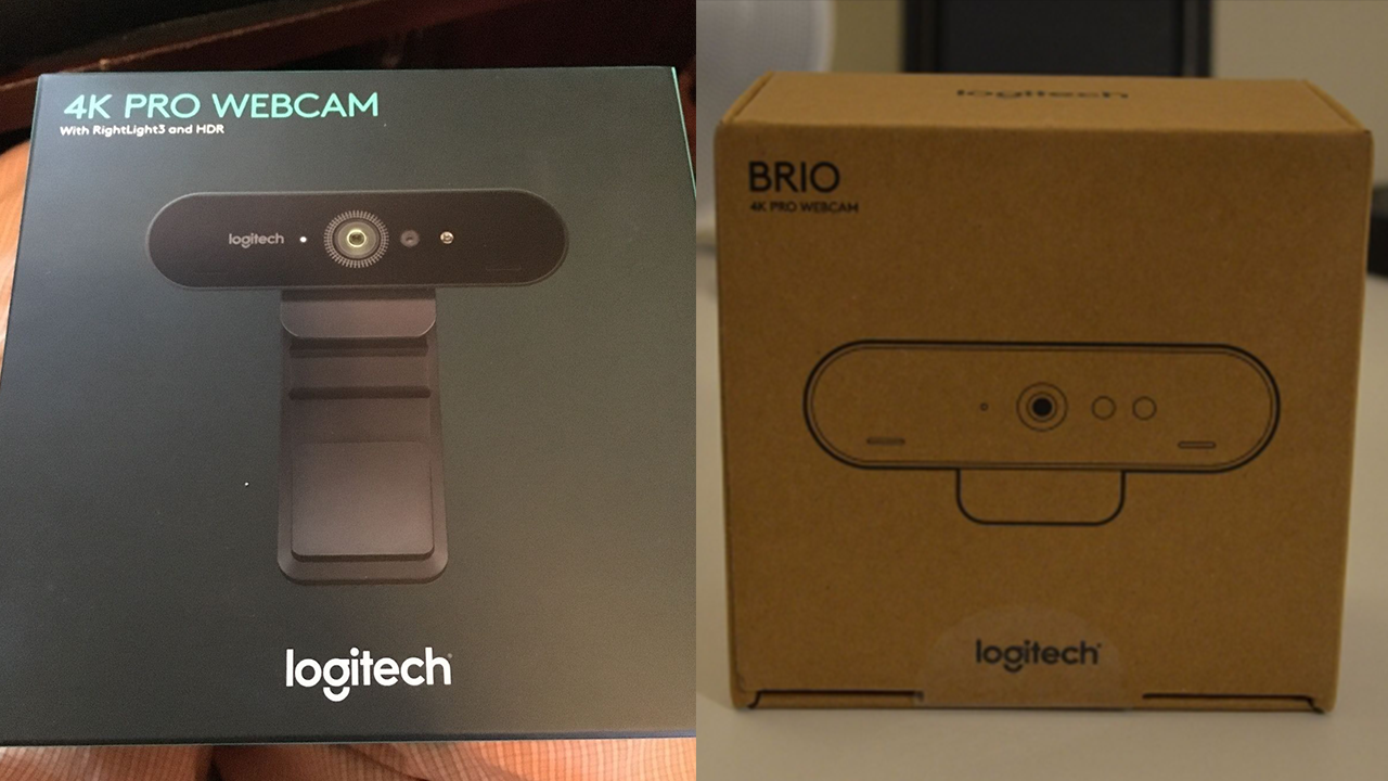 Logitech 4k pro vs brio packaging