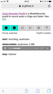 Recording audio in the browser using the MediaStream Recorder API
