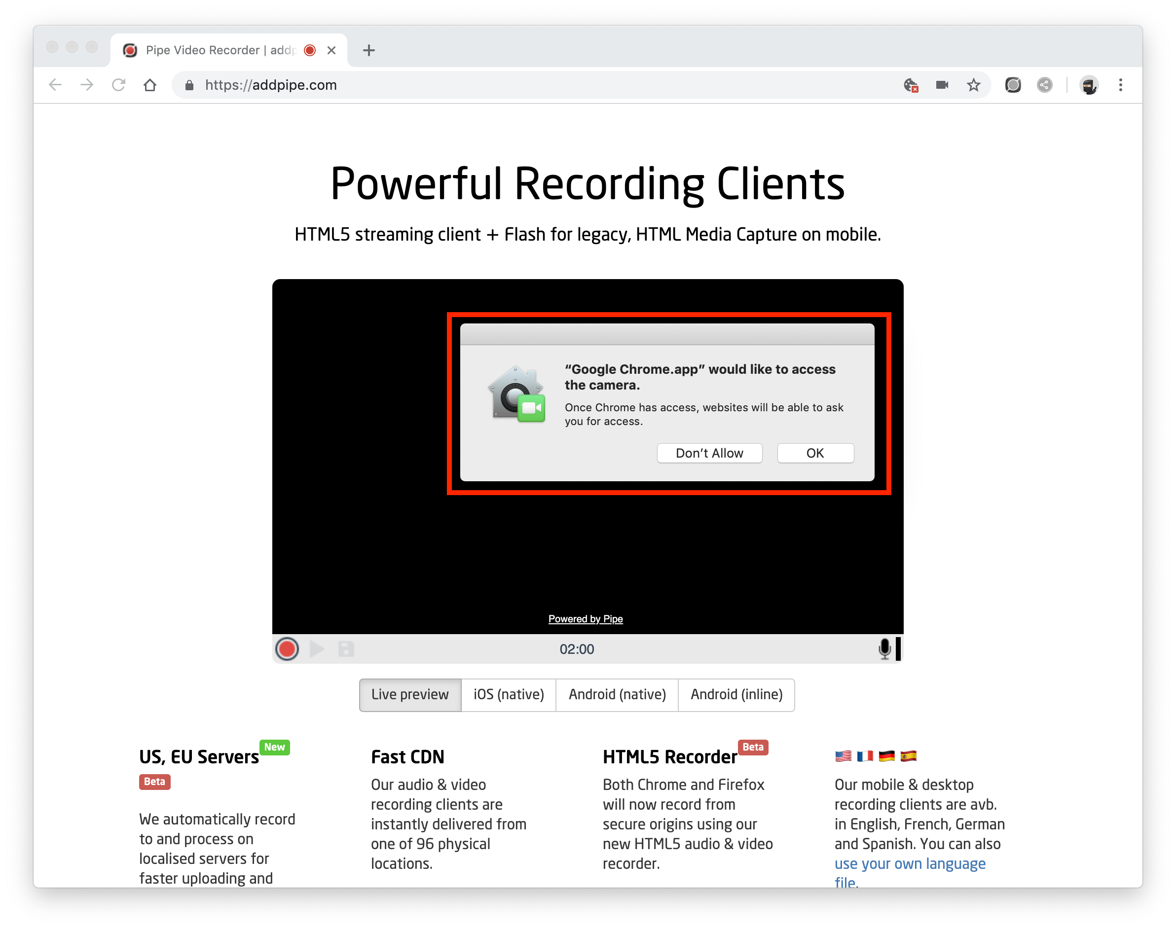 Camera and Microphone Access in macOS Mojave