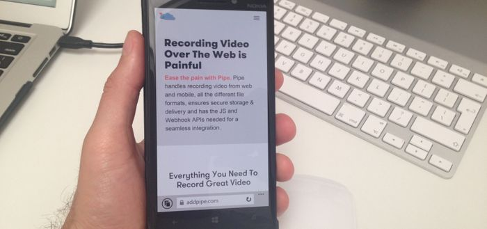Recording 4k Video Over The Web With The Lumia 930 Mobile Device