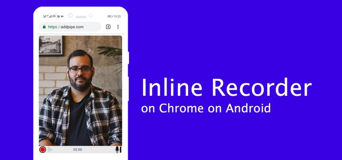 Inline HTML5 Desktop Recorder on Chrome on Android